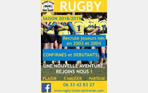 Rugby - Convocations du 13 au 19 août 2018